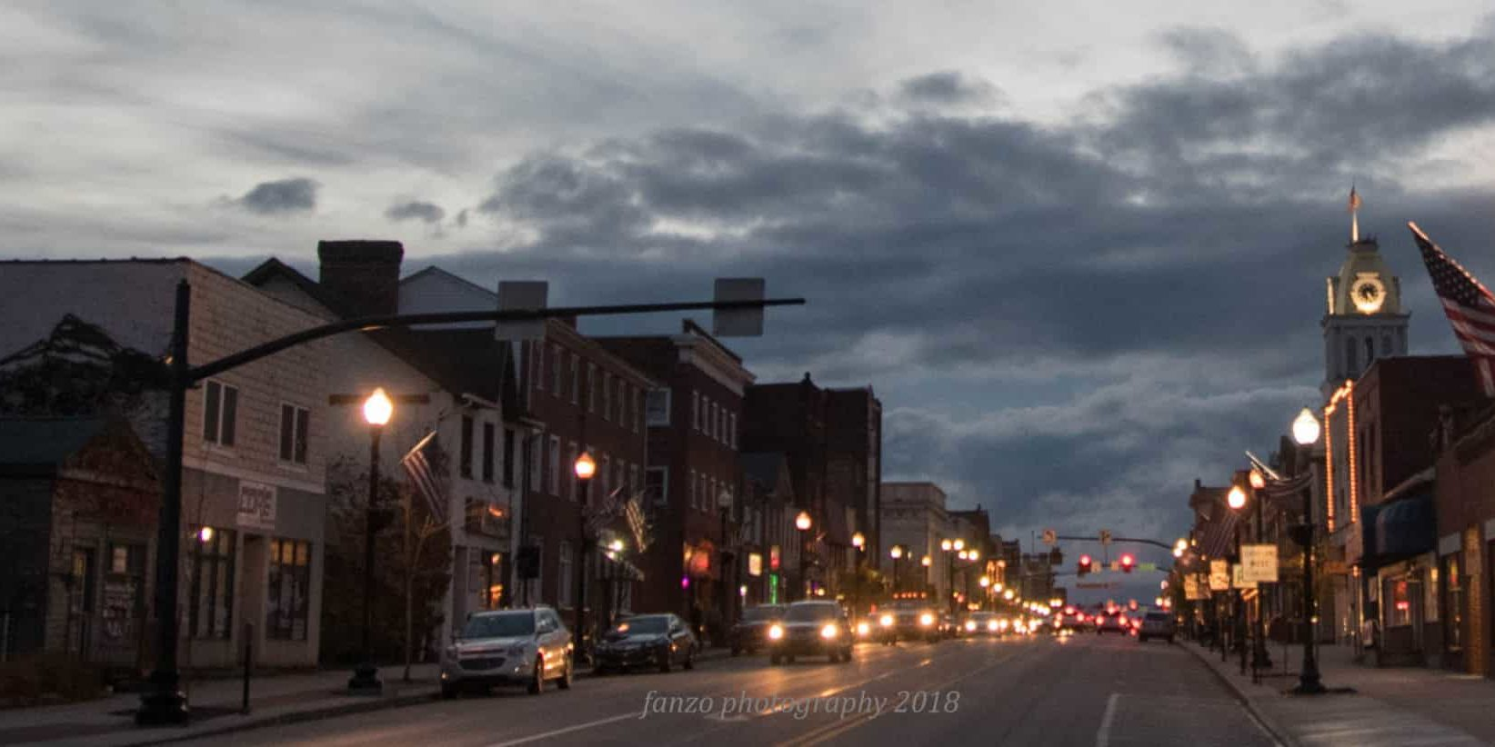 Indiana County PA street view night