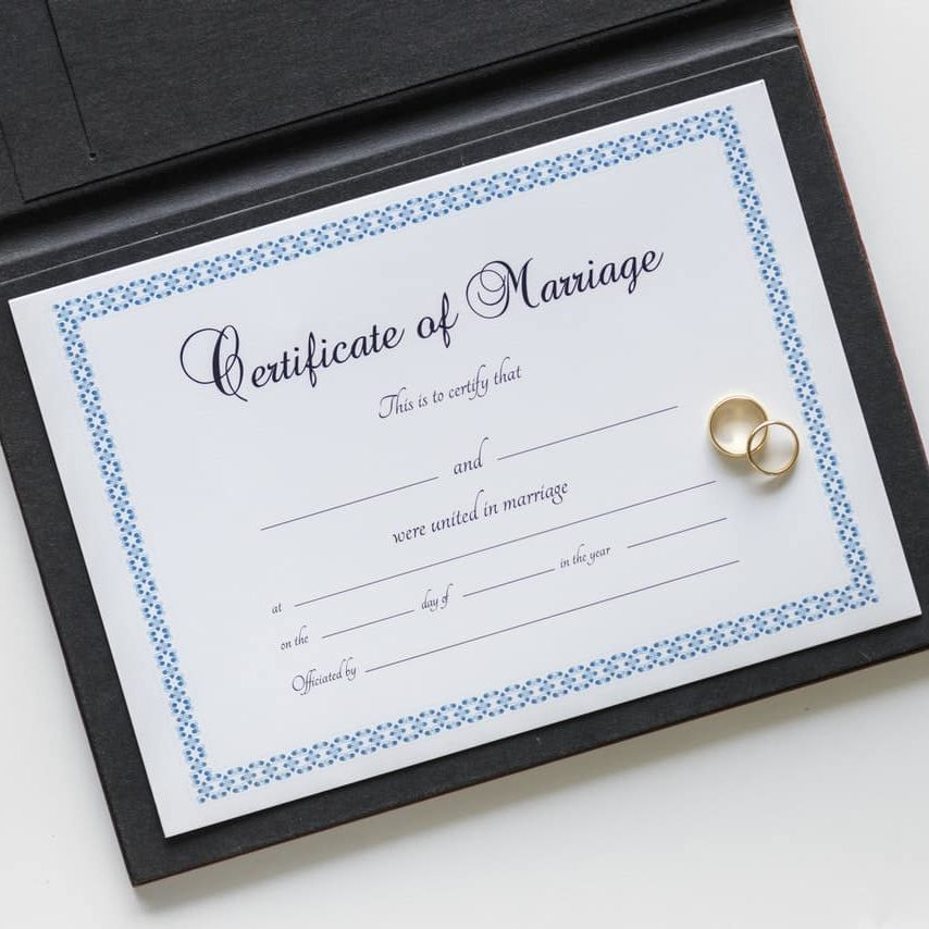 services: Certificate of Marriage